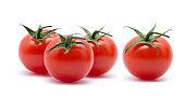 Cherry tomatoes on white. fresh tomatoes