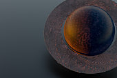 3D render Planet Earth, Solar system