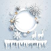Winter holiday card