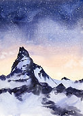 Night Sky and mountain.