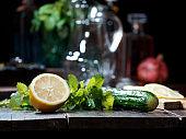 Lemon and cucumber detox water