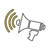 Megaphone line vector icons