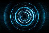 Abstract technology background. Hi-tech communication. Futuristic digital innovation concept