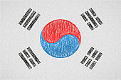 south korea painted flag