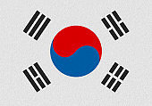 south korea paper flag
