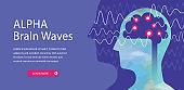 Alpha Brain Waves Web Banner