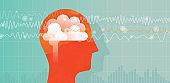 Orange Head And Brain Waves