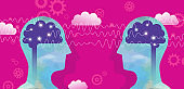 Two Persons And Brain Waves