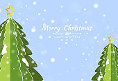 Merry Christmas background with element tree banner, snowflakes. Vector illustration