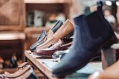 Boutique shoe store