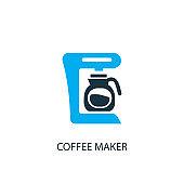 Coffee maker icon. Logo element illustration