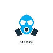 Gas mask icon. Logo element illustration