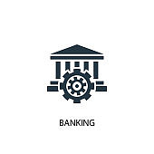 banking icon. Simple element illustration. banking concept symbol design. Can be used for web and mobile.