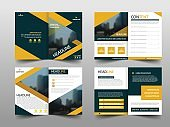 Yellow black abstract annual report Brochure design template vector. Business Flyers infographic magazine poster.Abstract layout template ,Book Cover presentation portfolio.