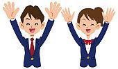 Student uniforms overjoyed