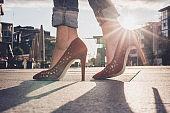 Close up of elegance heels.