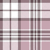 Tartan plaid pattern background. Seamless herringbone check plaid graphic in pink and white for scarf, flannel shirt, blanket, throw, upholstery, or other modern fabric design.