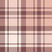 Plaid pattern background. Seamless herringbone check plaid graphic in pink for winter blanket, throw, upholstery, duvet cover, or other modern textile print.