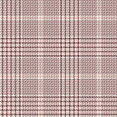 Spring and summer glen plaid pattern vector background. Seamless hounds tooth check plaid in pink for dress, jacket, coat, skirt, or other modern abstract clothing print.