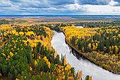 Colorful autumn landscape.