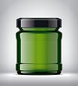 Glass Jar Mockup on Background.
