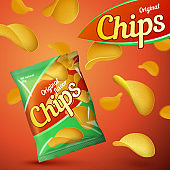 Vector bright template for chips package design