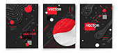 Vector new style dark poster templates