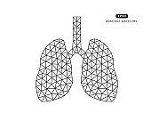 Abstract vector illustration of lungs.