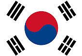 South Korea Flag Vector illustration EPS10