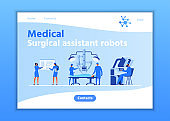 Medical Surgical Assistant Robots Landing Page