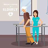 Rehabilitation for Elderly on Parallel Bars Advert