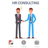 HR Consulting, Two Men in Suit Shaking Hands.