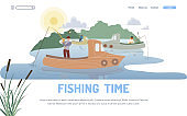 Fishing Hobby and Occupation Landing Page Template