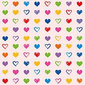 Hearts love theme valentine's day seamless pattern background 4
