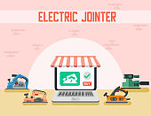 Electric Jointer Online Shop Flat Landing Page