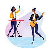 Modern Music Festival Flat Vector Illustration
