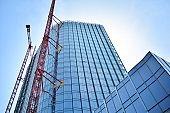 Skyscraper building during construction.