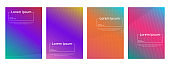 Colorful Gradient Minimal Geometric Line Pattern Background Cover Template