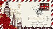 postcard or envelope with Big Ben in London