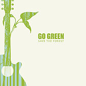 Go green eco poster concept. Save the forest