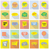 Direct messaging, DM, chat bubbles. Icons for communication set. Social media illustration speech balloons with sample text, colorful flat style with shadows.