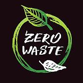 Zero waste - hand drawn doodle ecology set life