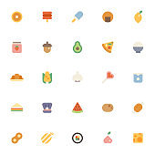 Various food icons collection set.