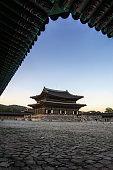 gyeongbokgung palace at sunset