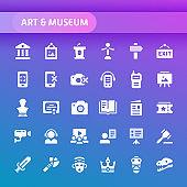 Art & Museum Vector Icon Set.