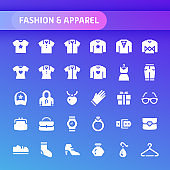 Fashion & Apparel Vector Icon Set.