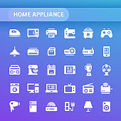 Home Appliance Vector Icon Set.