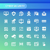 Cyber Security Vector Icon Set.