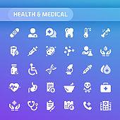 Health & Medical Vector Icon Set.