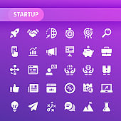 Startup Vector Icon Set.